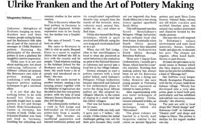 Ulrike Franken And The Art Of Pottery Making – Tshoganetso Mokowe